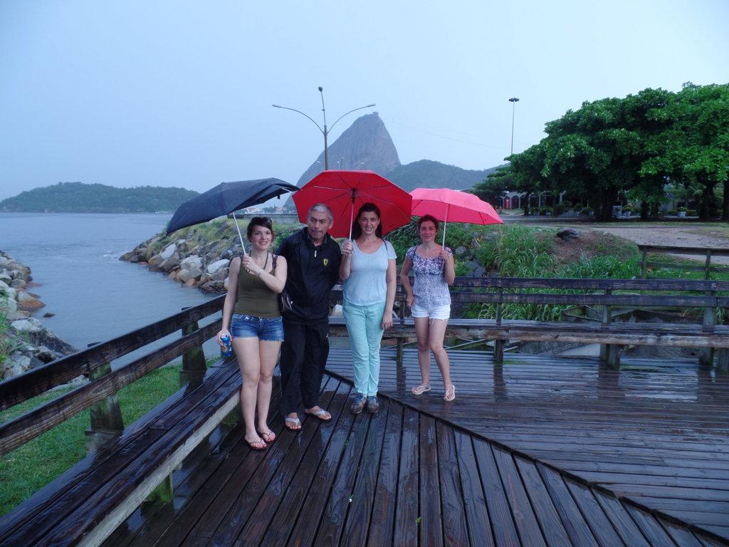 Portuguese in the rain. Rio de Janeiro, Brasil.