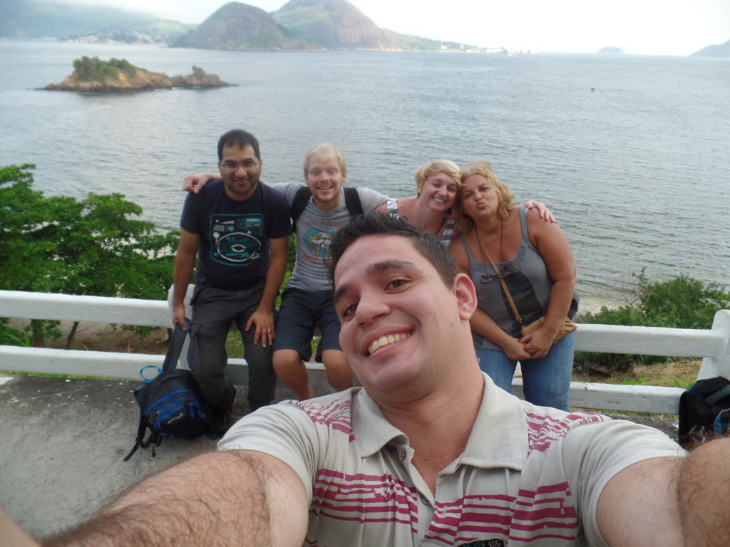 Selfie at Niterói City.