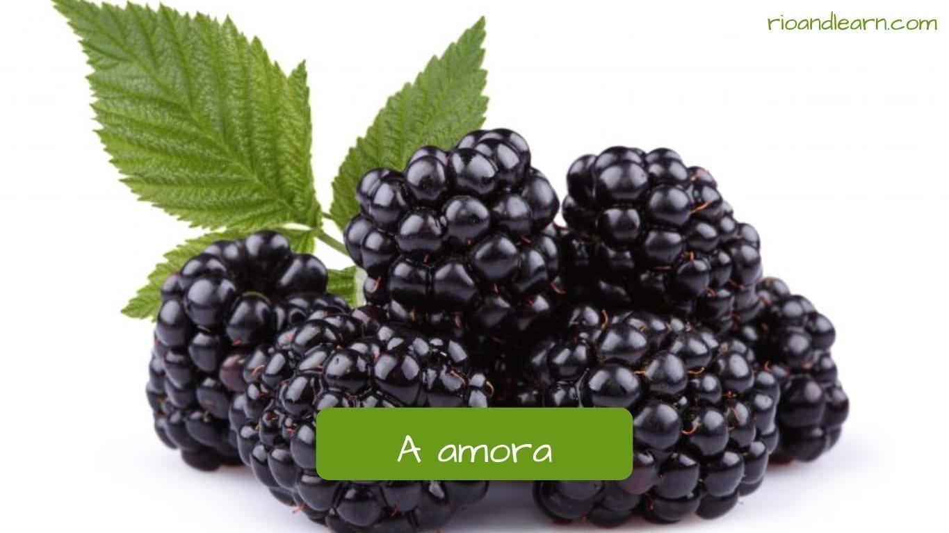 Blackberry in Portuguese: Amora