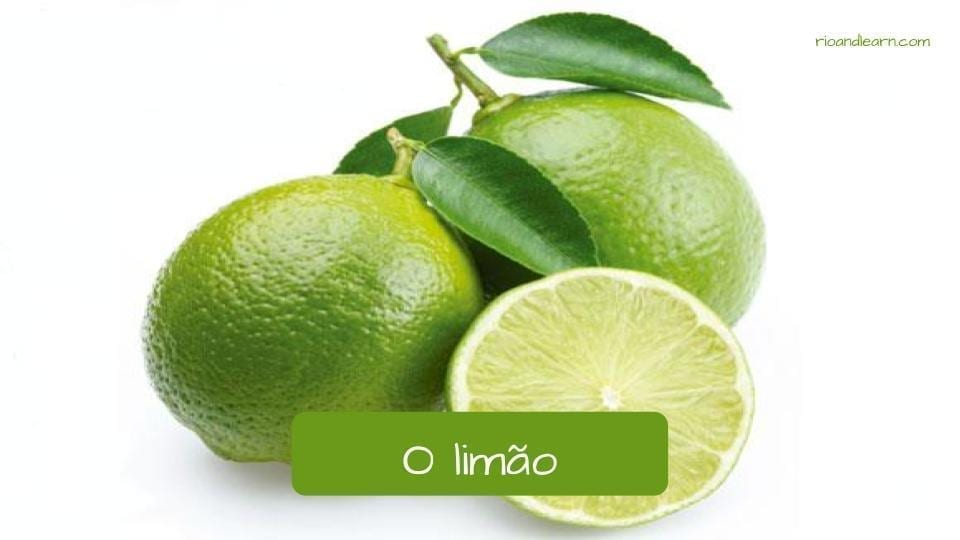 Lemon in Portuguese: Limão
