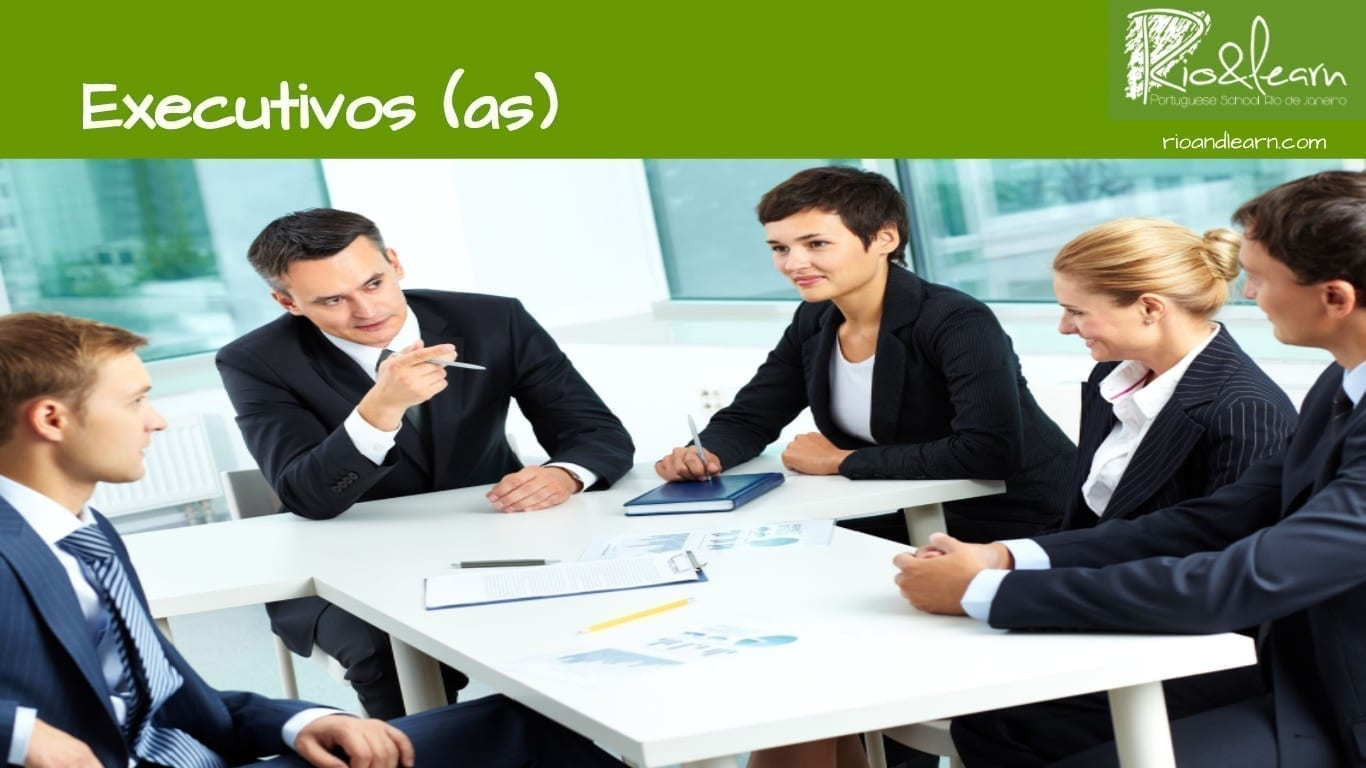 Professions in Portuguese. Executives. Executivos