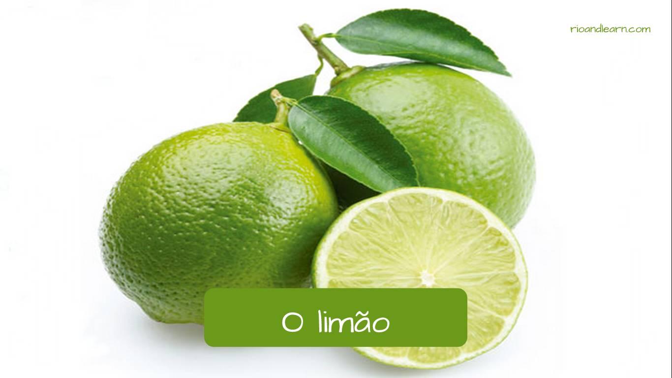 Lima en portugués: o limão