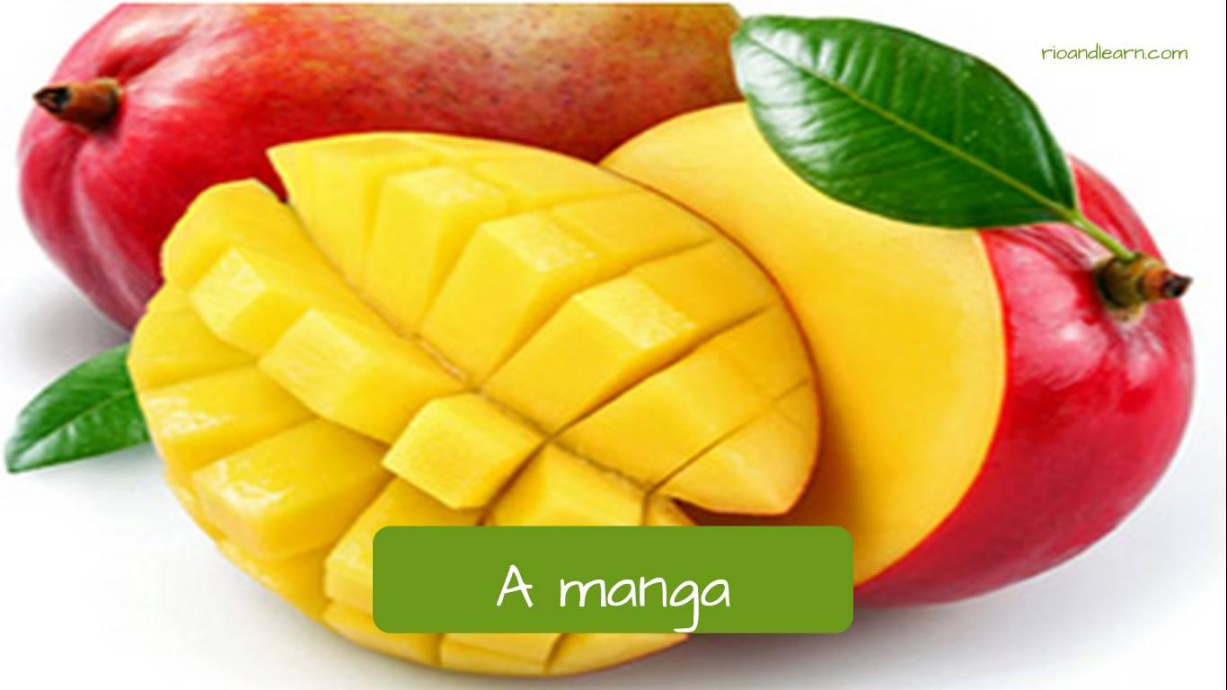 Mango en portugués: A manga