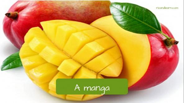 Mango. Manga. Portuguese with A Dica do Dia by Rio & Learn Portuguese School.