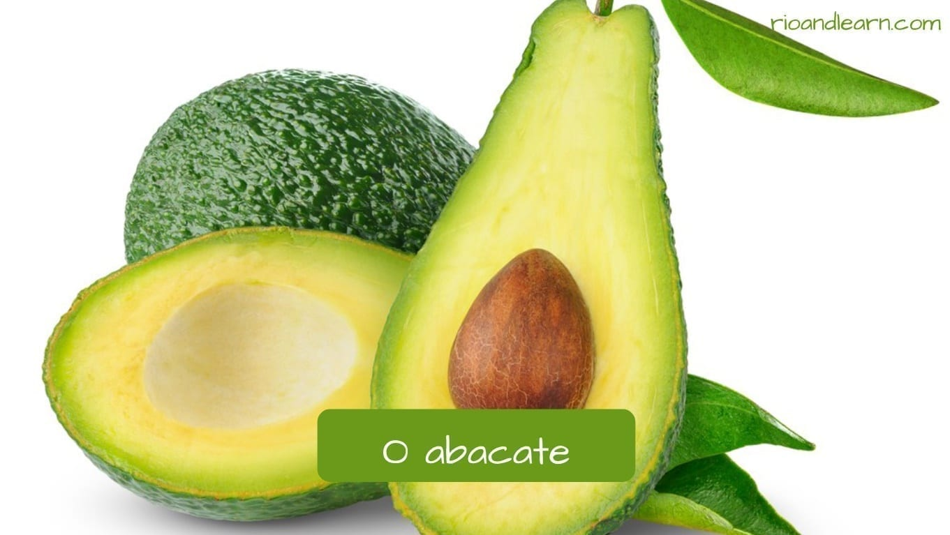 Avocado in Portuguese: Abacate
