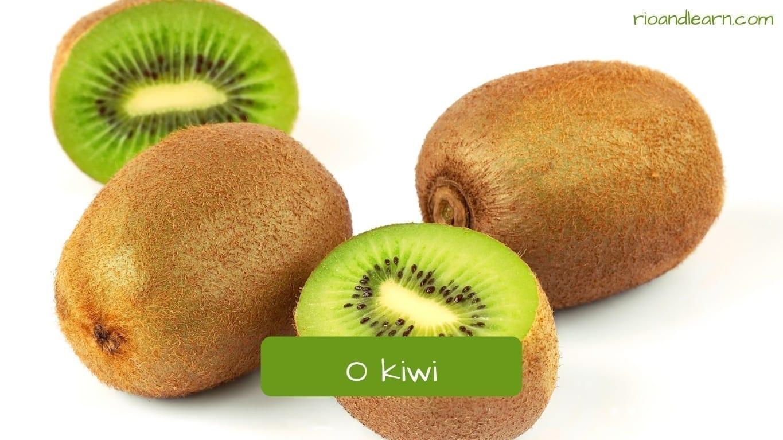 Kiwi in Portuguese: Kiwi