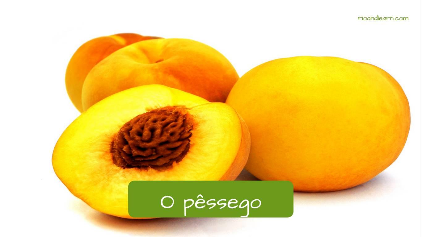 Durazno en portugués: o pêssego