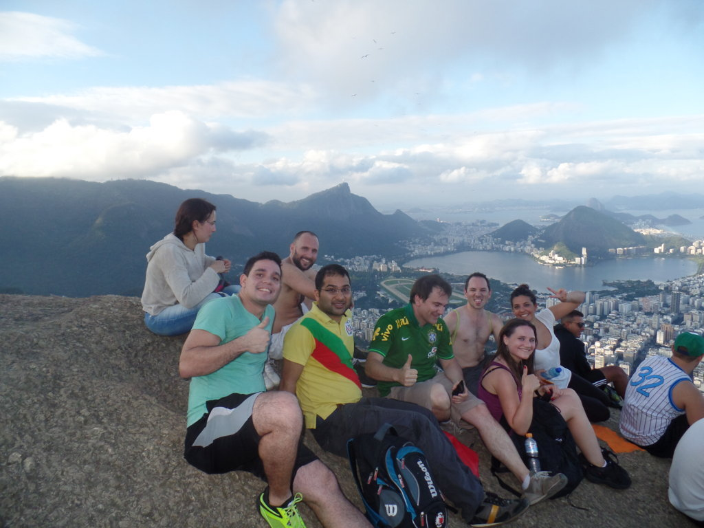Portuguese students at Morro Dois Irmãos.
