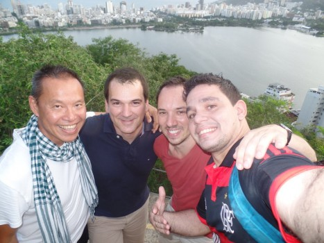 Selfie at Park da Catacumba.