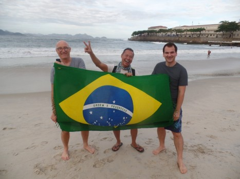 Portuguese Students at Copacabana.
