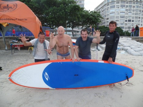 Stand up Paddle Sur at Copacabana.