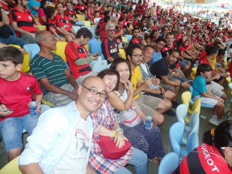 Portuguese students at Maracanã.