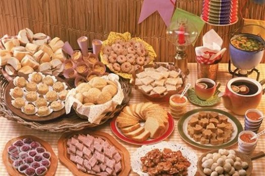 Typical food in Festa Junina