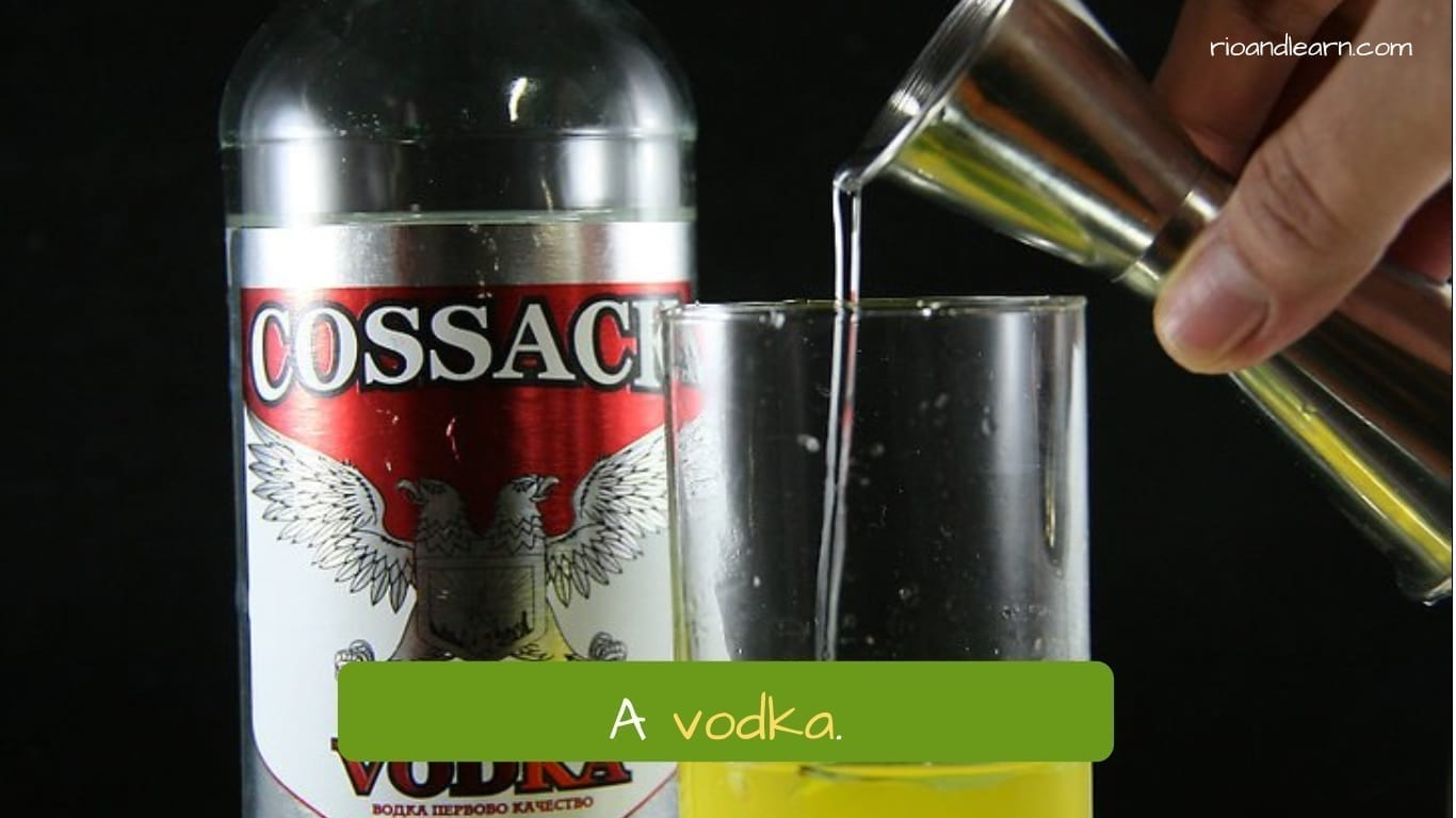 Drinks in Portuguese: A vodka