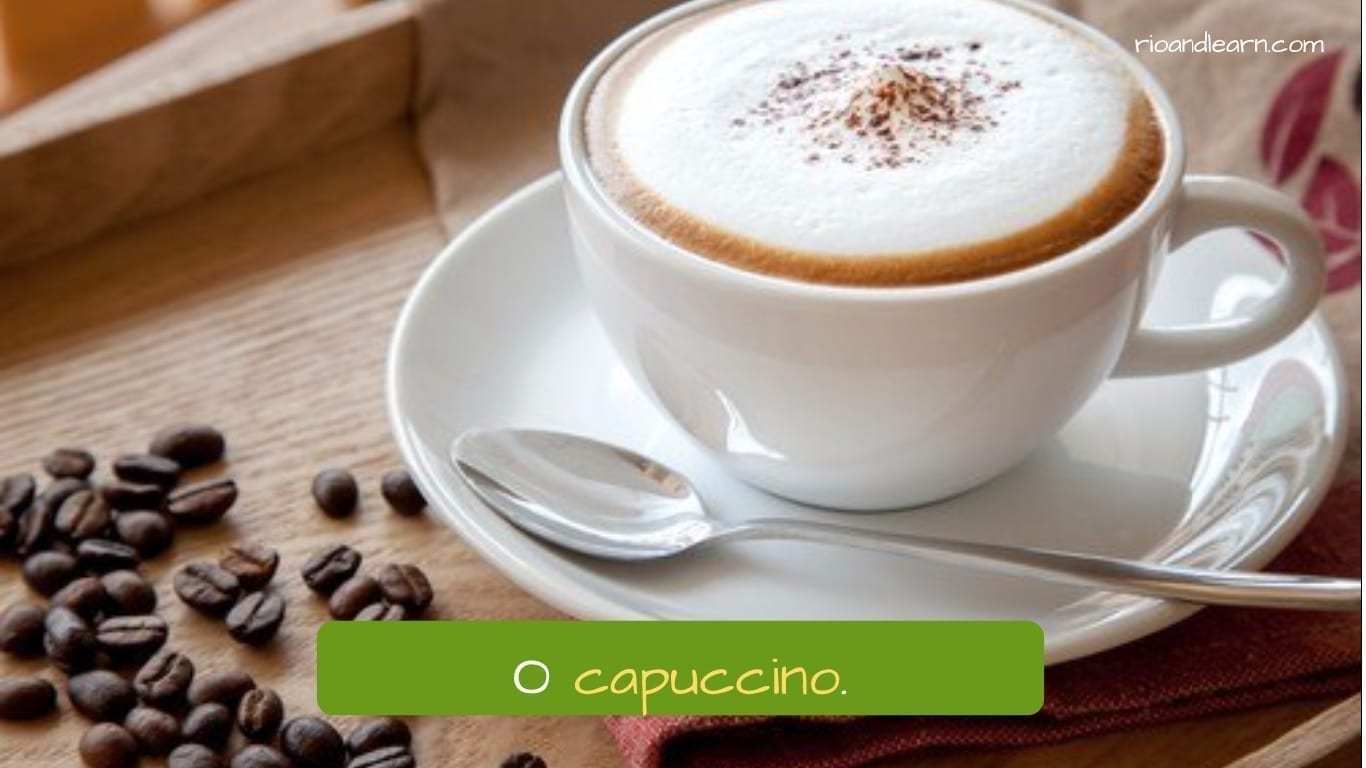 Drinks in Portuguese: O capuccino