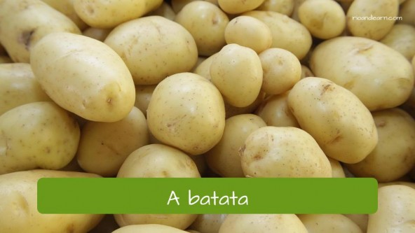 Vegetables in Portuguese: batata potato