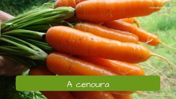 La zanahoria en portugués: Cenoura