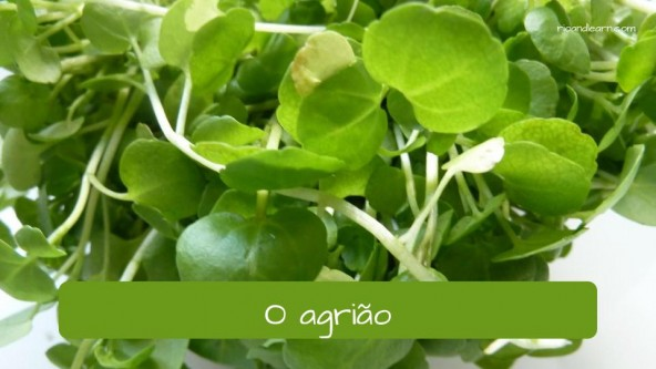 Vegetables in Portuguese: agrião - watercress