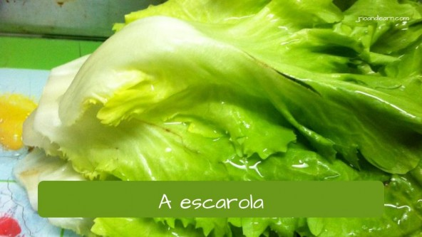 Vegetables in Portuguese: escarola - escarole