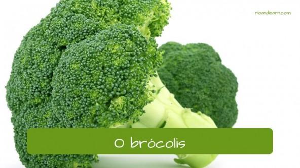Brócoli en portugués: brócolis.