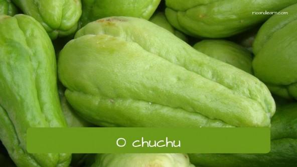 El cayote en portugués: chuchu.