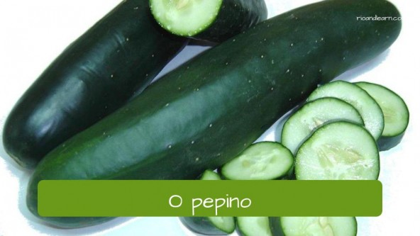 Vegetables in Portuguese: pepino - cucumber