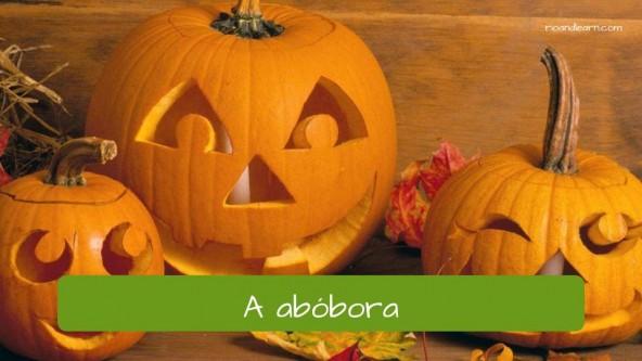 Verduras y horalizas en portugués: Abóbora (Calabaza)
