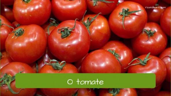 Vegetables in Portuguese: o tomate - tomato in Portuguese
