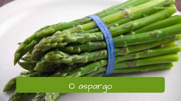 Esparrago en portugués: aspargo.