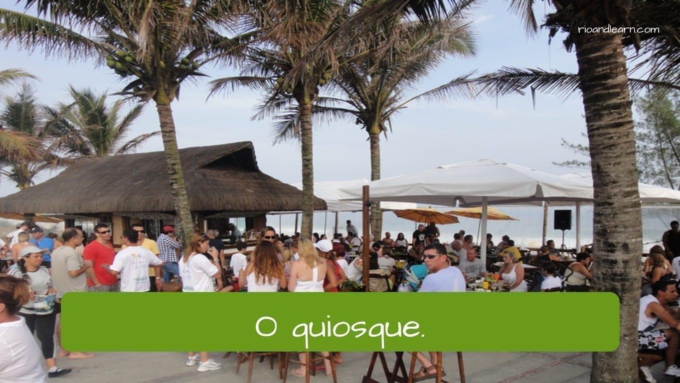 Tipos de restaurante en portugués: O quiosque.