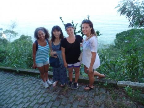 Portuguese Students at Leme Fort.