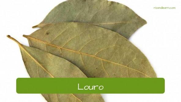 Spices in Portuguese. Laurel: Louro.
