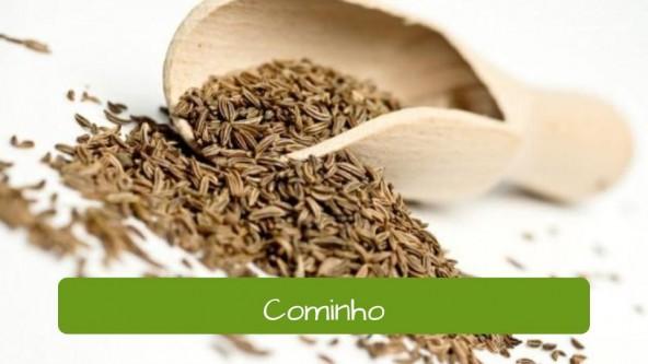 Spices in Portuguese. Cumin: Cominho.