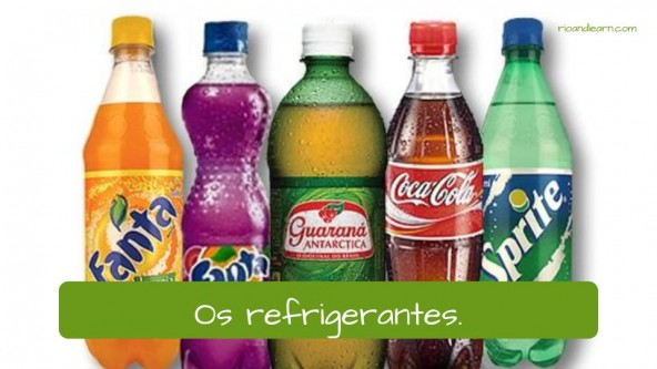 Drinks in Portuguese: A Cerveja (beer): Os refrigerantes (soda)
