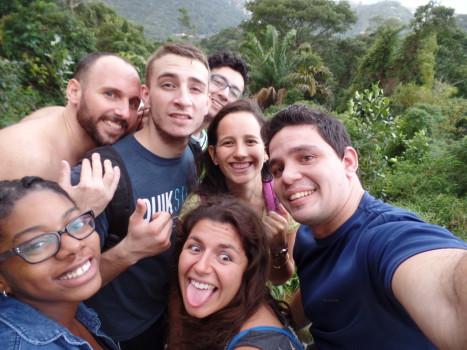 Selfie at Vista Chinesa. Rio de Janeiro, Brazil.