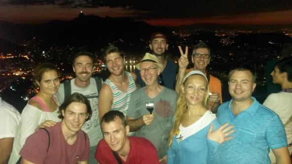 What an amazing sunset at Pão de Açúcar we had!