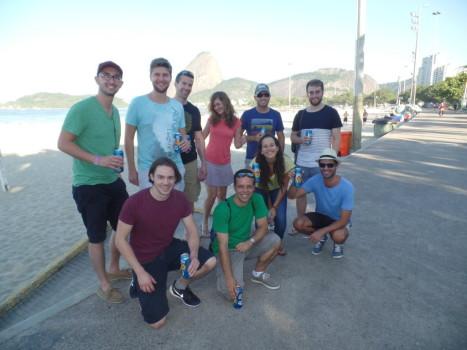 Portuguese Students at Flamengo beach.