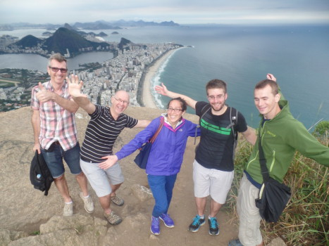 Having fun at Morro Dois Irmãos. Rio de Janeiro, Brazil