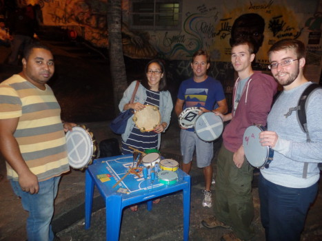 Samba Drum Class at Pedra do Sal.