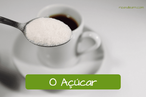 How do Brazilians like their coffee? o açúcar