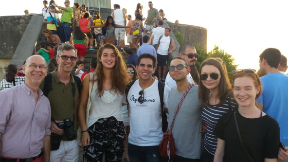 Portuguese students at Cristo Redentor.