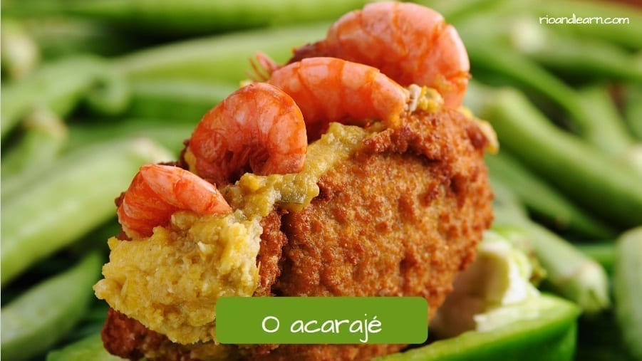 Typical Brazilian food from Bahia. O acarajé.