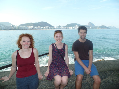 Beautiful view at Forte de Copacabana.