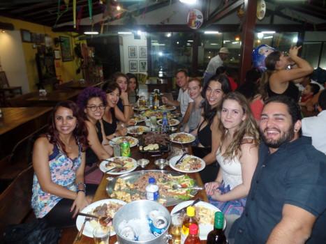 Portuguese students at Feira de São Cristóvão.
