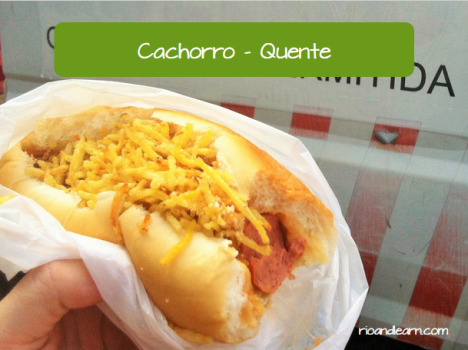 Brazilian Street Food: Cachorro - Quente. Hot dog