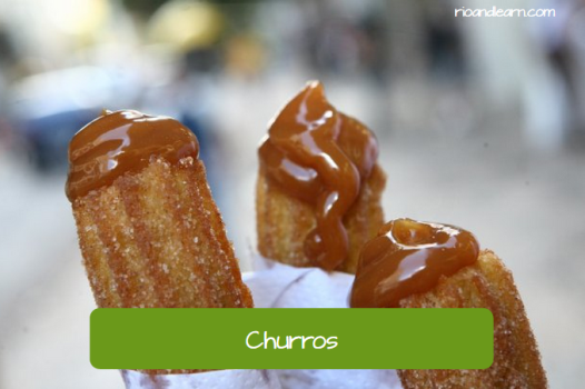 Brazilian Street Food: Churros. Fritters