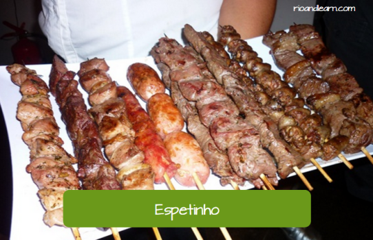 Brazilian Street Food: Espetinho. Skewer