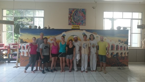 Capoeira with Mestre Toni and Rio & Learn Portuguese language students.