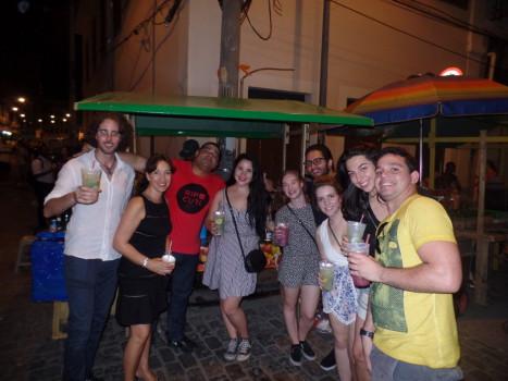 Beers and caipirinhas at Pedra do Sal.