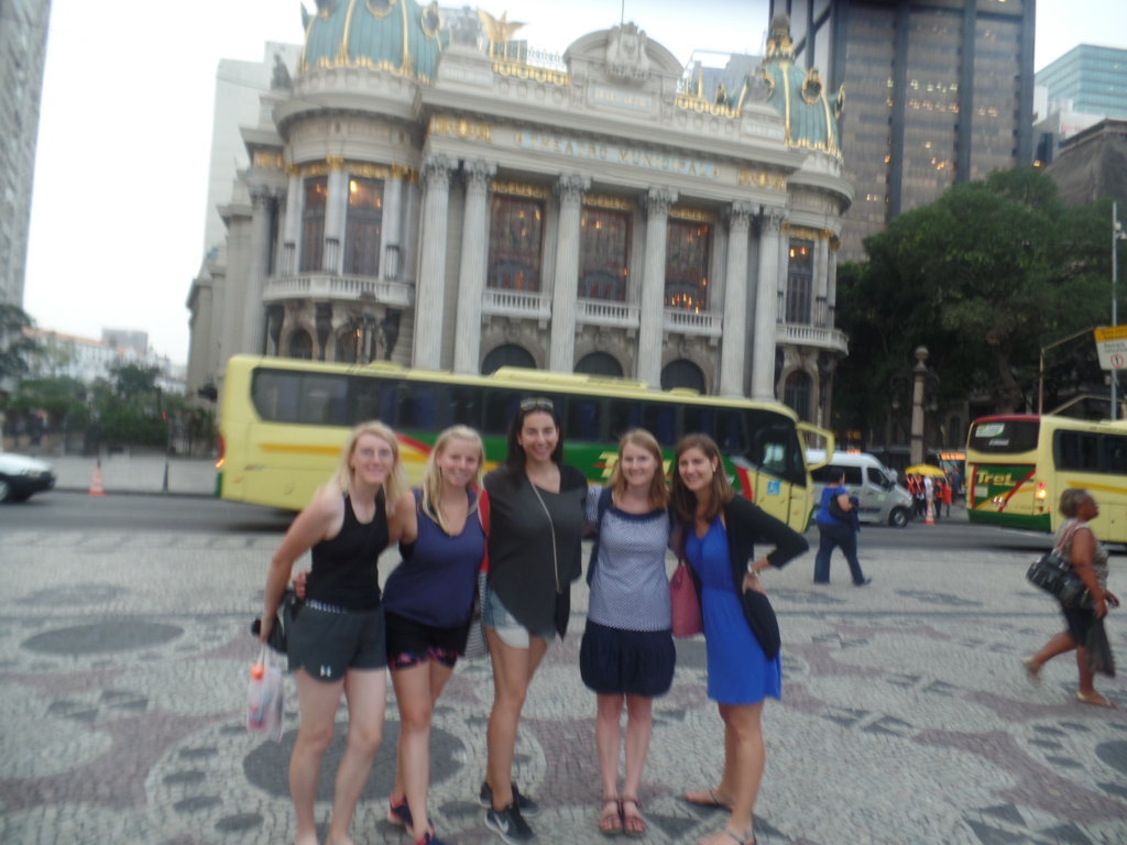 Portuguese students at the Historical center.